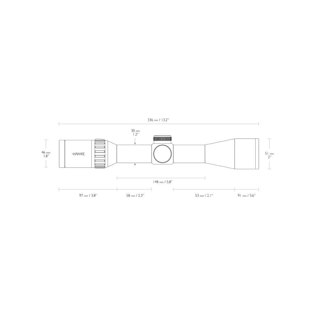 Red Dot optika HAWKE Endurance 30 WA 1.5-6x44 L4A Dot Reticle 16310-4662