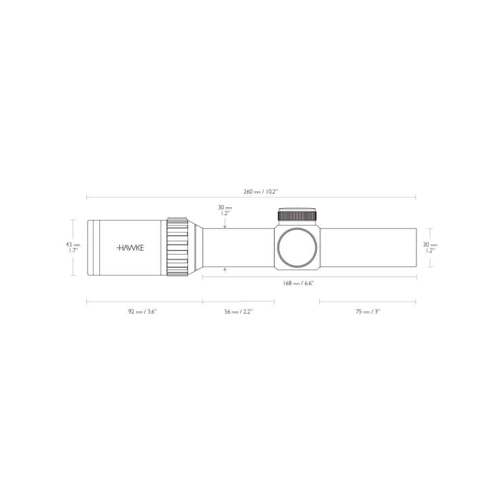 Red Dot optika HAWKE Vantage 30 WA 1-4x24 L4A Dot Reticle 14273-4924