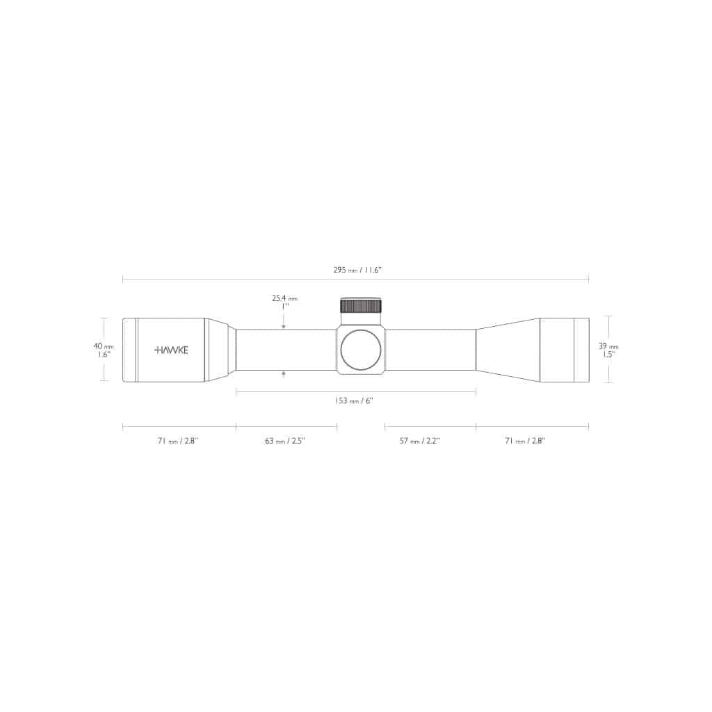 Optika HAWKE Vantage 4x32 30/30 Duplex Reticle 14100-4655