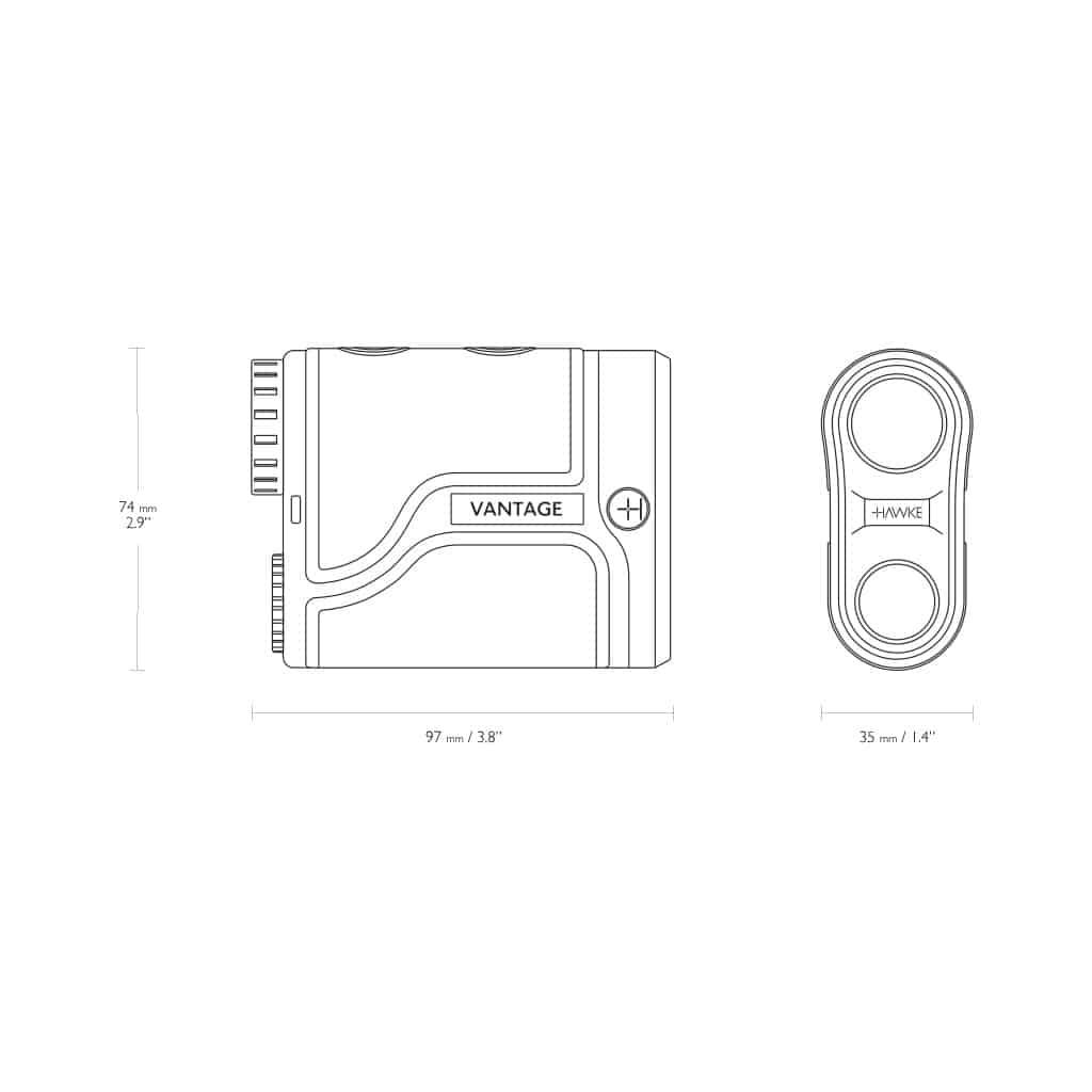 Daljinomer HAWKE Laser Range Finder Vantage 900 41202-5022