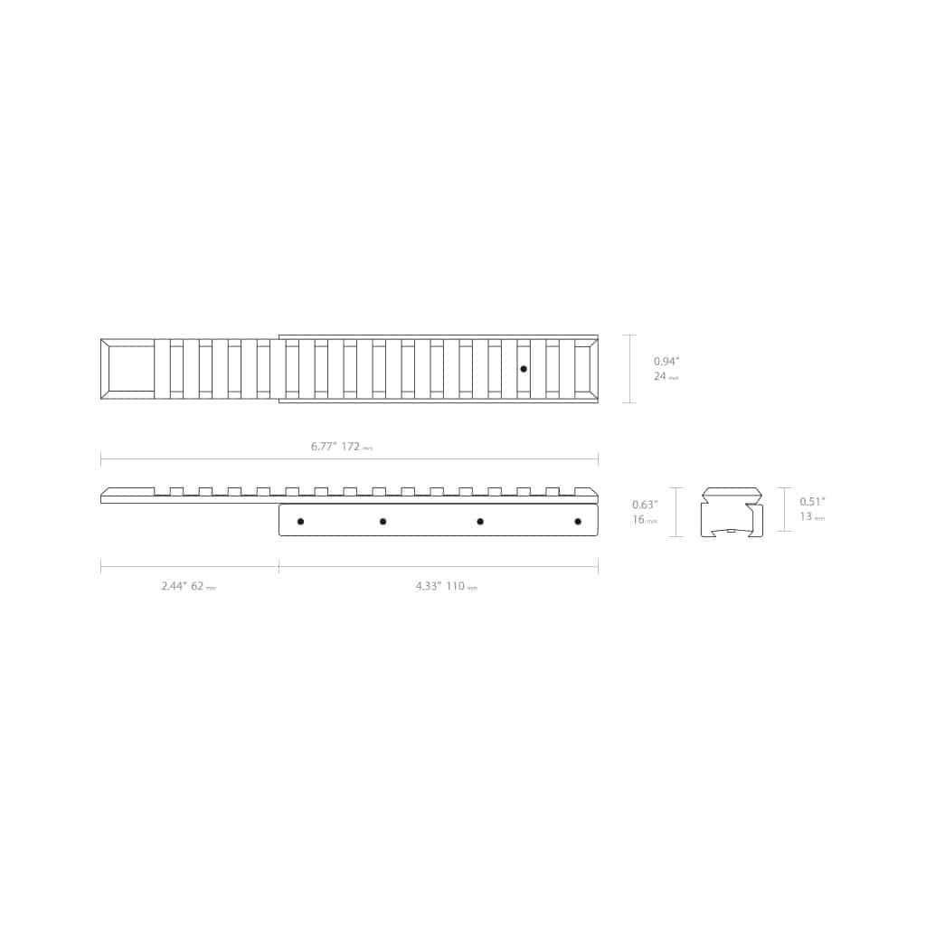 Nosač optike HAWKE Adaptor Base 22402-5023