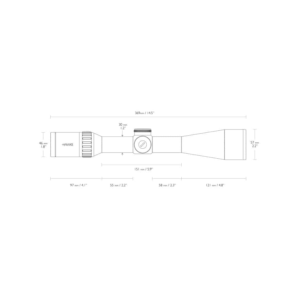 Optika HAWKE Endurance 30 WA SF 6-24x50 LRC (24x) Reticle 16362-4768