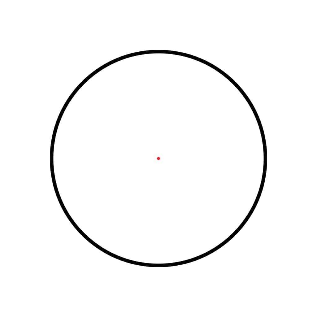 Optika HAWKE Endurance Red Dot 1x30 Weaver Rail (3moa dot) 12128-11396