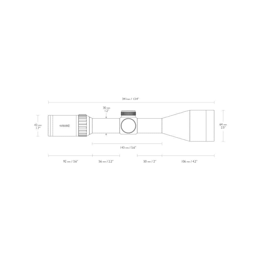 Optika HAWKE Vantage 30 WA 3-12x56 L4A Dot Reticle 14275-4661