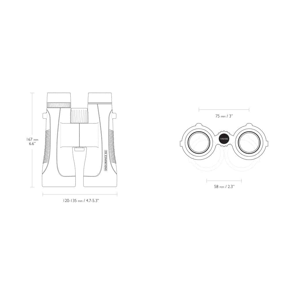 Dvogled HAWKE ENDURANCE ED 12x50 (Black) 36210-11404