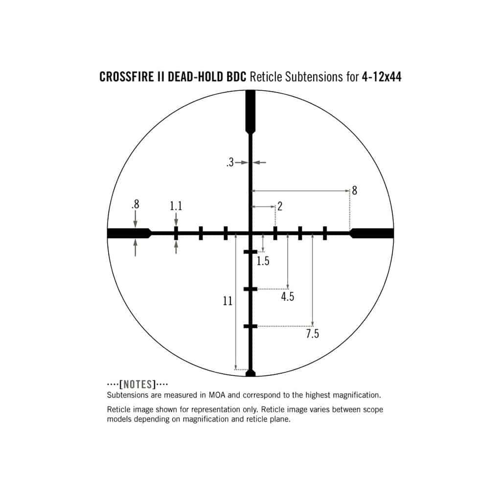 Optički nišan Vortex Crossfire II 4-12x44 (1-Inch) BDC CF2-31015-5336