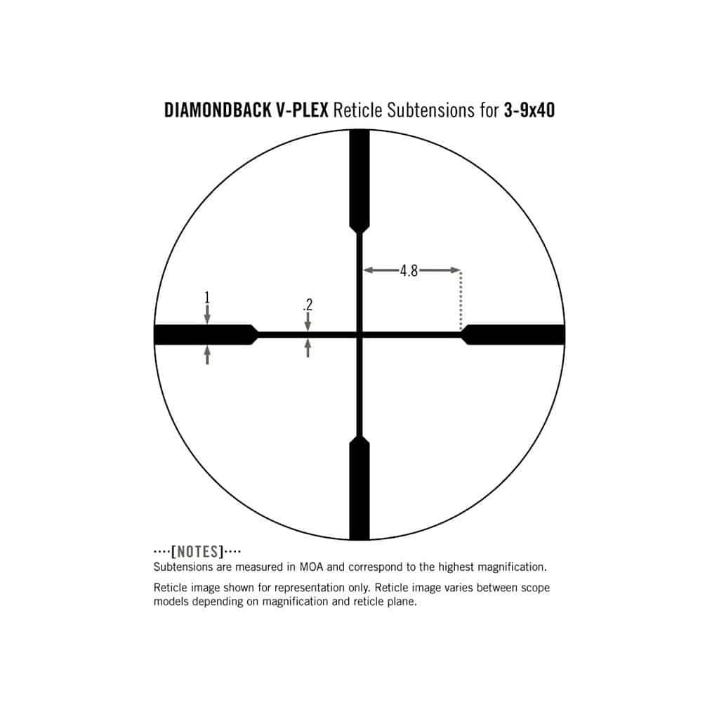 Optički nišan Vortex Diamondback 3-9x40 Riflescope V-Plex DBK-M-01P-5317
