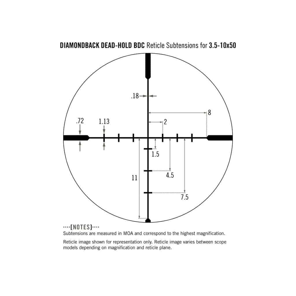Optički nišan Vortex Diamondback 3.5-10x50 BDC DBK 03 BDC-5315