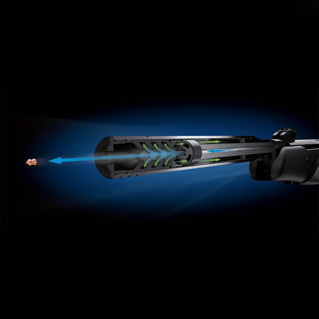 Vazdušna puška STOEGER ATAC T2 4.5 305m/s sa optikom 3-9X40 Black-5181